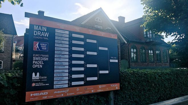 El cuadro del Open de Suecia de pádel.