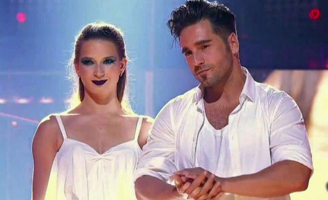 David Bustamante y Yana, a punto de conocer su victoria en Bailando con las estrellas.