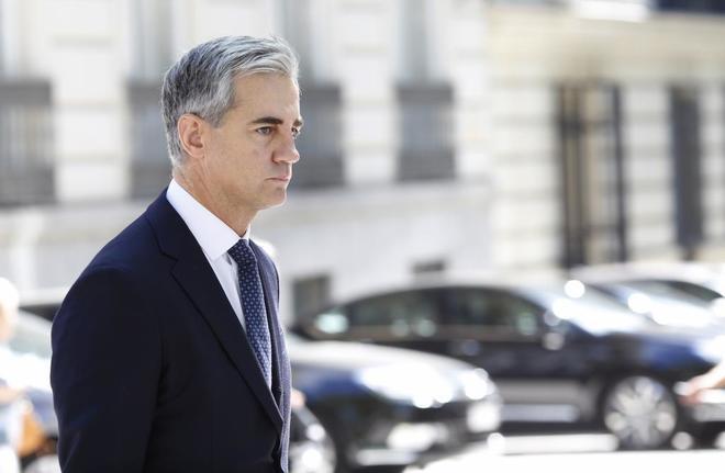 El exsecretario general del PP valenciano, Ricardo Costa, a su llegada a la Audiencia Nacional.