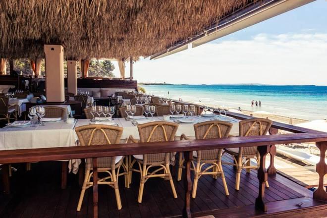 Parte del espacio de Malibu Beach Club Ibiza