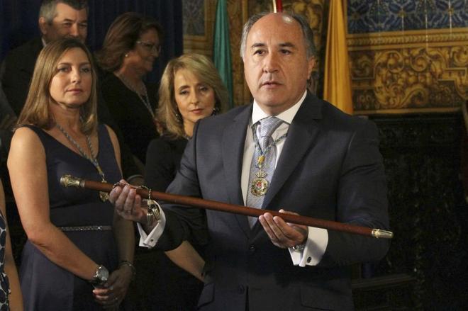 El alcalde de Algeciras, José Ignacio Landaluce, durante su toma de...