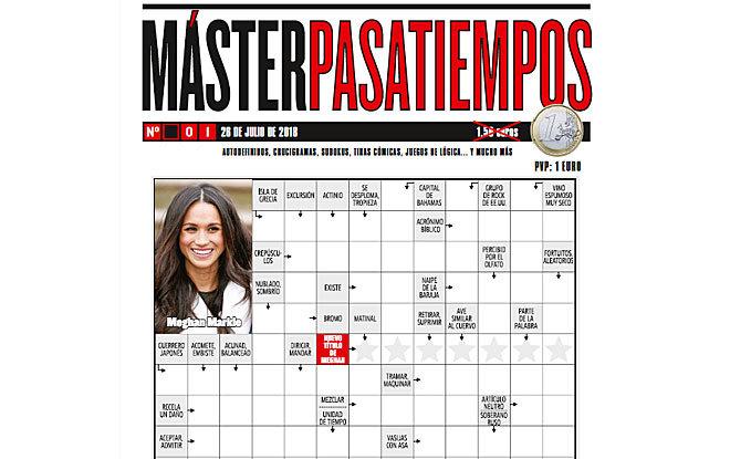 Primer número de 'MásterPasatiempos'.