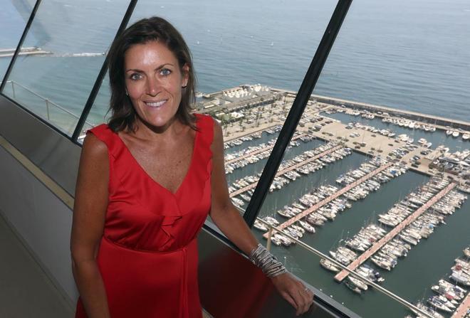 Wendy Clark, de DDB, en la sede que la compañía tiene en Barcelona.