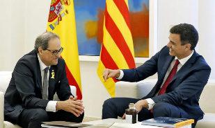 Sánchez acepta hablar de los presos y el referéndum con la Generalitat