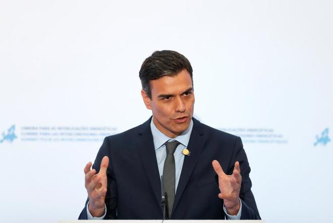Pedro Sánchez, en rueda de prensa tras participar en la cumbre de...