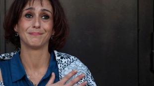 Juana Rivas, a las puertas del juzgado de Granada tras salir en...