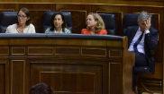 Los ministros María Jesús Montero, Reyes Maroto, Margarita Robles,...