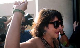 Juana Rivas, a su entrada en los Juzgados de Granada.