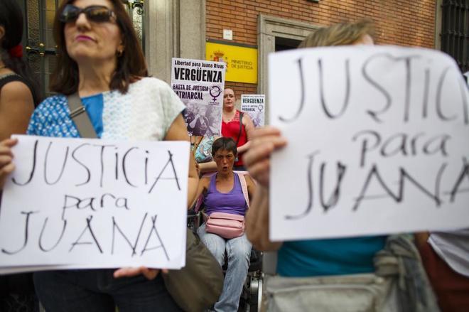 Concentración en Madrid contra la sentencia a Juana Rivas.