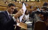 Pedro Sánchez, en un pleno del Congreso de los Diputados el pasado 17...