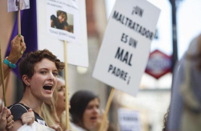 Concentracion en Madrid el pasado viernes contra la sentencia a Juana Rivas.