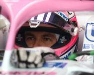 Sergio Pérez, durante los entrenamientos del GP de Hungría.