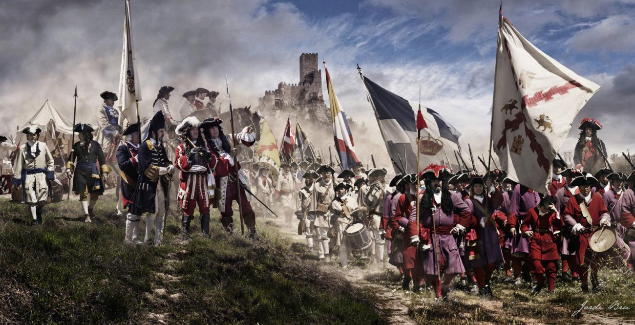 Foto realizada durante la recreación de la Batalla de Almansa de 1707...