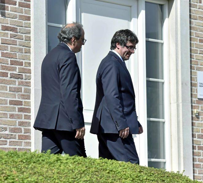 Quim Torra y Carles Puigdemont en Waterloo