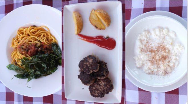 Menú del día en el restaurante La Renta, en la localidad madrileña de Majadahonda.