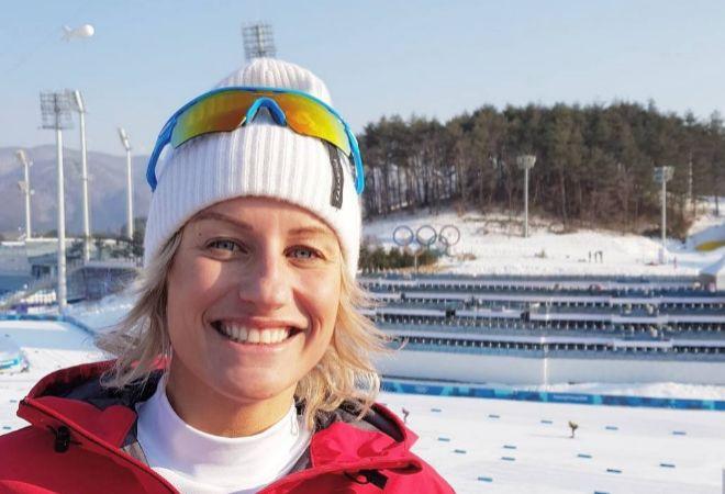 Skofterud, en los Juegos Olímpicos de Pyongyang del pasado mes de febrero.