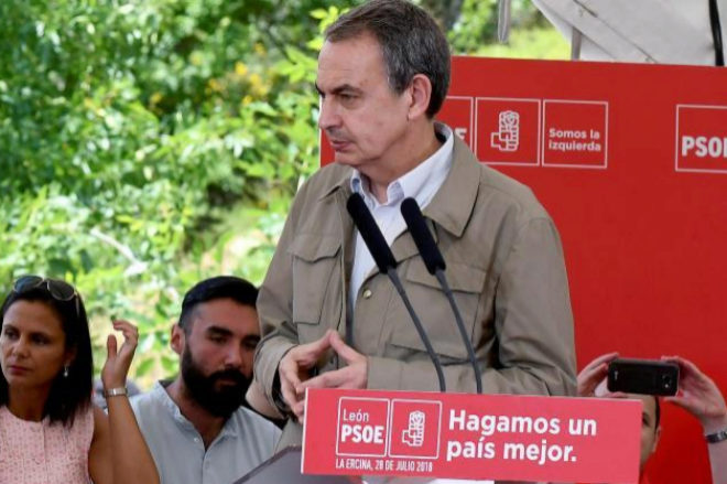 El ex presidente del Gobierno, José Luis Rodríguez Zapatero