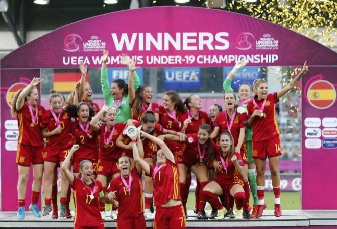 España se corona en Suiza y revalida el título de campeona de Europa Sub-19