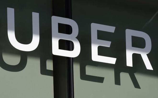 Logo de la empresa Uber en Los Angeles, California.