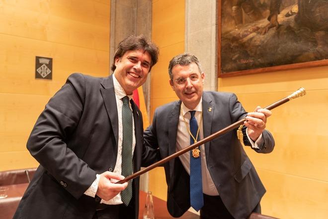 Miquel Noguer ha tomado posesión del cargo de presidente de la Diputación de Girona.