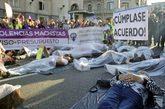 Manifestación feminista contra el incumplimiento del pacto de Estado...