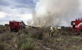 Imágenes del avión posteriores al accidente