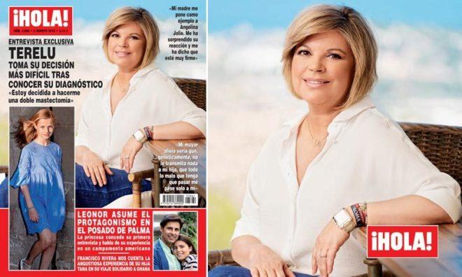 Terelu Campos, ayer en la portada de ¡Hola!