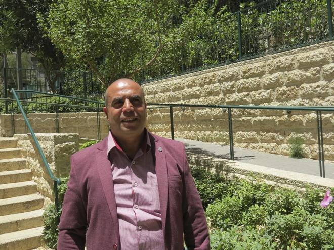El candidato palestino Ramadán Dabash en Jerusalén.