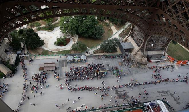 La Torre Eiffel, uno de los monumentos más visitados del