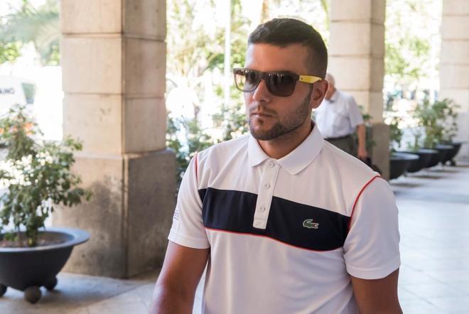 Ángel Boza acude a firmar a los juzgados de Sevilla el pasado 18 de julio tras su libertad bajo fianza.