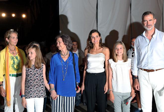 La familia del Rey y los Reyes, este miércoles en Palma.