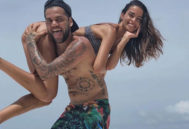 Dani Alves y su esposa, en Maldivas.