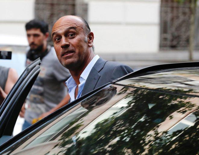 El empresario Juan Muñoz, ayer, a su salida de la Audiencia Nacional,...