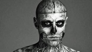 El modelo Rick Genest, más conocido como 'Zombie boy'.
