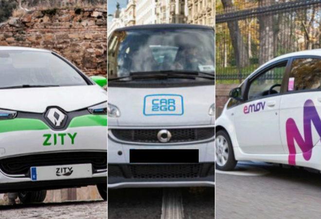 Imagenes de coches de Zity, car2go y emov