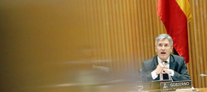 El ministro del Interior, Fernando Grande-Marlaska, comparece en el...