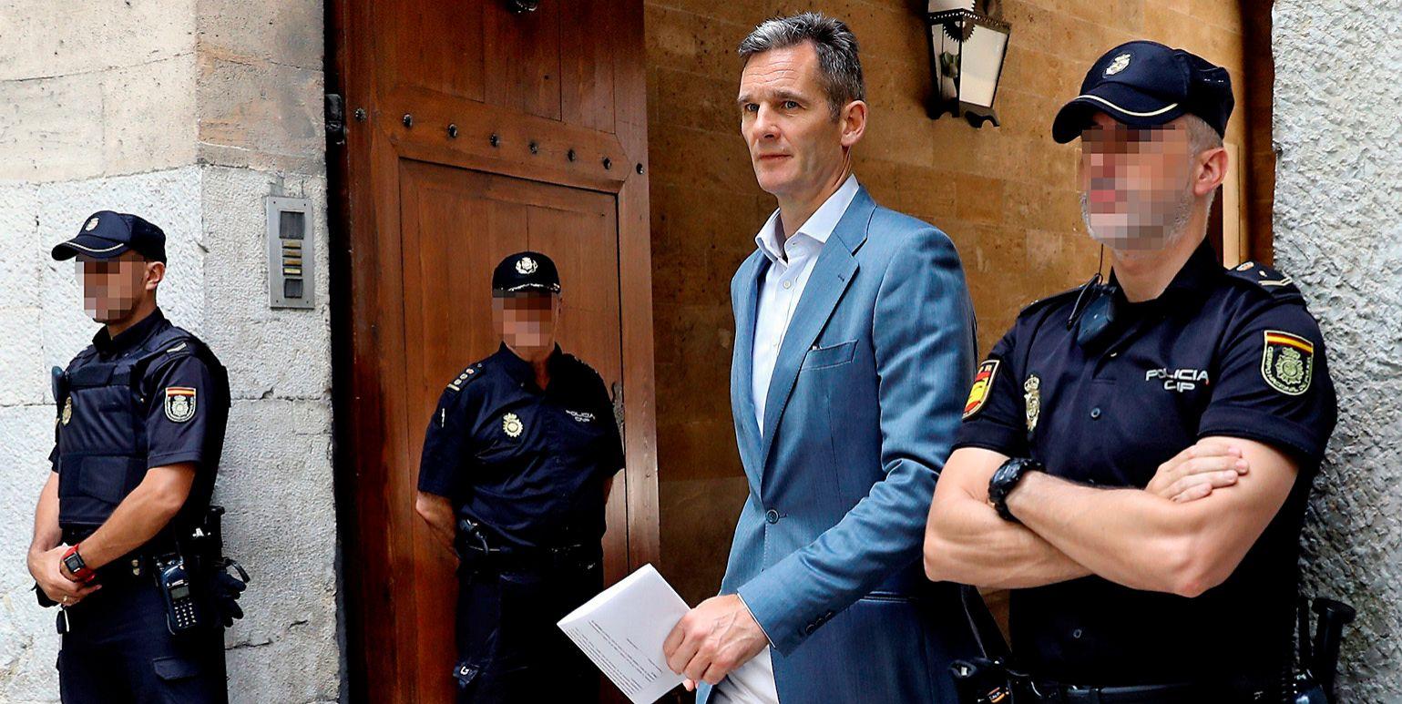 Iñaki Urdangarin en su última visita a la Audiencia Provincial de Palma.