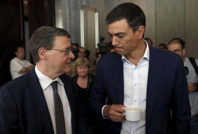 Jordi Sevilla y Pedro Sánchez.