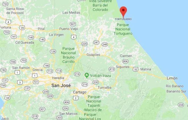 Área protegida de Turtuguero, ubicada en la provincia de Limón, en...
