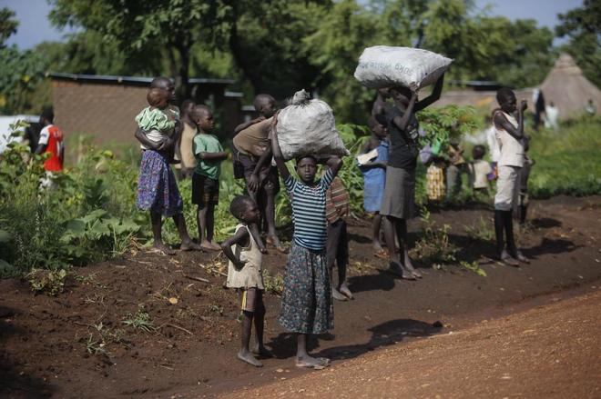 Al norte de Uganda, a 45 kilómetros de la frontera