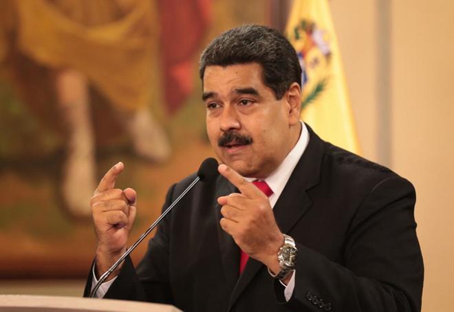 El presidente de Venezuela, Nicolás Maduro, en Caracas (Venezuela).