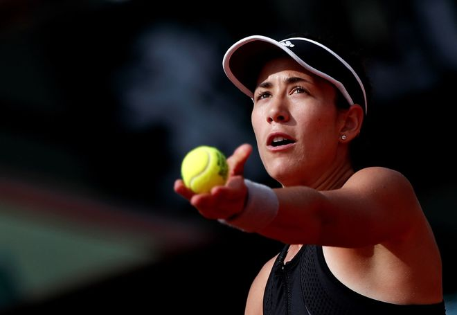 Muguruza, durante su participación en Roland Garros.