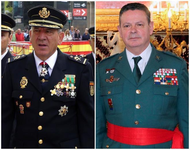 José Ángel González (izquierda), comisario principal de la...