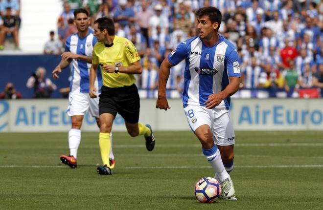 El Leganés, durante un partido de la pasada temporada.