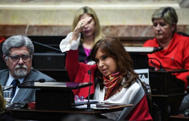 Kirchner, durante su discurso a favor de despenalizar el aborto.