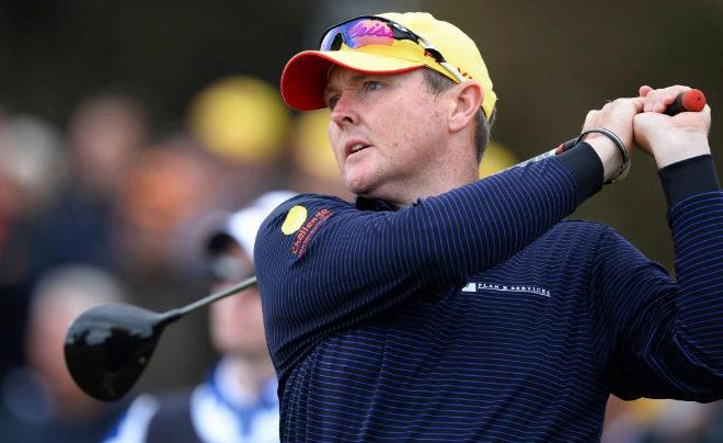 El golfista autraliano Jarrod Lyle durante un torneo en Melbourne