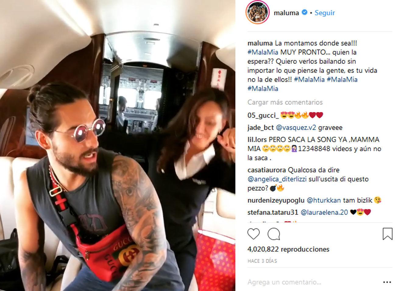 El cantante Maluma es muy dado a compartir en Instagram momentos de su...