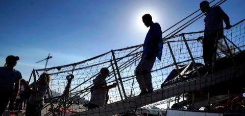 Llegada del barco Open Arms al puerto de Algeciras