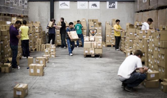 Nave en la que se almacenaron las papeletas para las elecciones autonómicas de la Comunidad de Madrid.