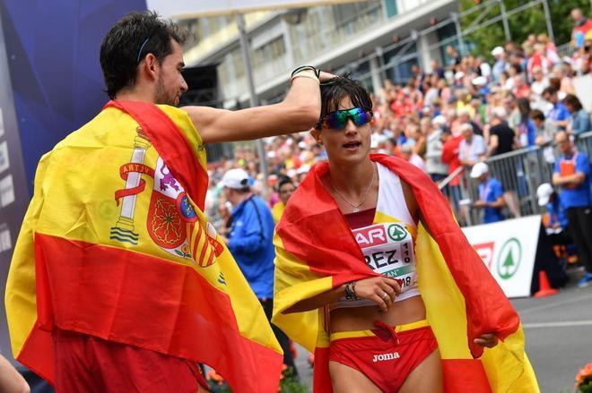 Doblete de oro para España en los 20 km marcha: Álvaro Martín y María Pérez, reyes de Europa